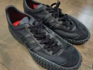 "Adidas Country X Kamanda ""Never Made"" Triple Black Shoes EE3642 Size 11 - EX++"