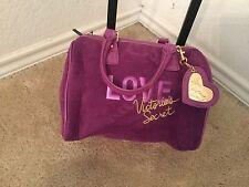 Victoria's Secret Love Spell Purple Clutch Handbag Faux Suede Cosmetics Bag