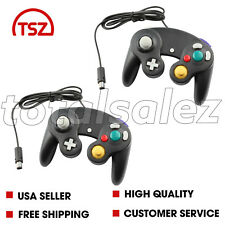2 For Nintendo Game Cube Black Controller Joy Stick Pad Remote Video System
