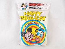 Vintage Mickey Mouse Happy Birthday Party for Eight 8 Brand New Hats Balloons ++