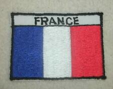 Embroidered Patch France Flag 3.5 x 2.5 NEW