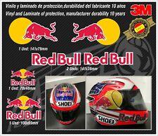 stickers-pegatinas-aufkleber-autocollants-adesivi, METALLIC RED BULL set Helmet