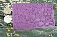 """Pebble stones background rubber stamp 5x3"""""""