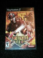 Firefighter F.D.18 Playstation 2 Ps2 Complete Tested Rare