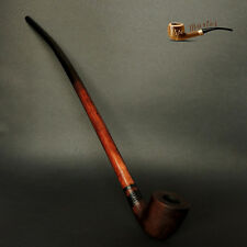 "WOODEN TOBACCO SMOKING PIPE Lotr Gandalf Hobbit 81  CHURCHWARDEN 14"" Sandblasted"