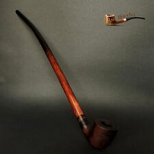 "WOODEN TOBACCO SMOKING PIPE Lotr Gandalf Hobbit 81  CHURCHWARDEN 14"" Sandblasted"