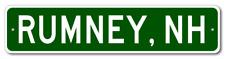 RUMNEY, NEW HAMPSHIRE  City Limit Sign - Aluminum