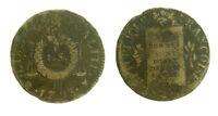s57_26) France - 1 Sol aux Balances (type daté) An II 1793 BB Strasbourg