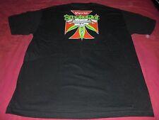 vintage CYPRESS HILL 5th SMOKE-OUT SKULL & IRON CROSS 2002 Concert Shirt pot 420