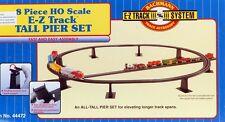 Bachmann HO Scale Train E-Z Track System 8 Piece Tall Pier Bridge Set 44472
