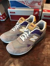 Mens New Balance 580 Shoes CM580GPY Sneakers Gray Size 9.5 Suede