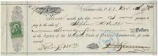CANADA Prince Edward Island Summerside Sight Bill 1880 Revenue cgb