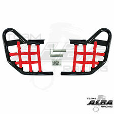 Yamaha YFZ450 YFZ 450   Nerf Bars   Alba Racing  Black Red 199 T1 BR