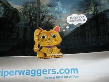 MANEKI-NEKO LUCKY BECKONING CAT TALISMAN CHARM FOR YOUR CAR REAR WINDSCREEN