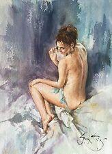 "Rare neuf superbes originales gordon king arrière ""look"" nude woman girl lady peinture"