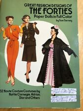 Rare Vintage Great Fashions Of The Forties Paper Dolls In Full Color Tom Tierney