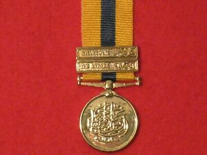 Miniature Queen Victoria Khedives Sudan 1896 Medal with 2 clasps and ribbon