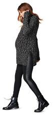NWT Noppies Legging Lone, Black Maternity Leggings, Faux Leather Design, Sz M/L
