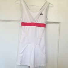 ADIDAS CLIMACOOL WOMENS TENNIS DRESS SIZE SMALL WHITE PINK ACCENTS
