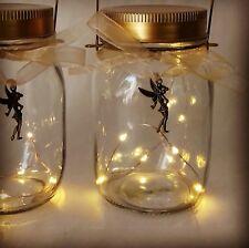 Battery LED Fairy Lights Glass Mason Jar Tinker Bell/Sugarplum Fairy Xmas Gift
