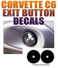 05 06 07 08 09 10 11 12 13 C6 CORVETTE EXIT DOOR BUTTON DECALS