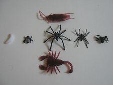 Fake Fly 3 Types of Spider cockroach maggot scorpion Joke prank rubber gag