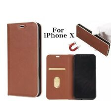 Iphone X Macally Fabric PC Plastic Card Pull Strong Magnetic Leather C