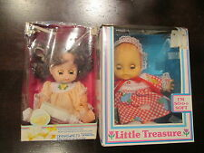 Lot of 2 Vintage Uneeda Baby Dolls In Box Drinks And Wets Little Treasure