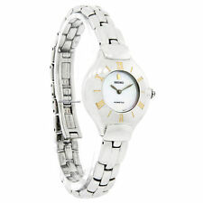 Seiko Kinetic Women's SWE002 Dress Stainless Steel Ivory Dial Watch