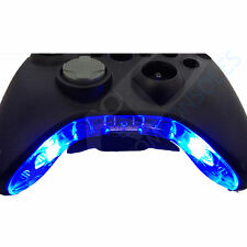 XBOX 360 Pre-Wired CONTROLLER comando modifica / MIC Pezzo LED mod (blu)