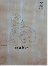 """""""PARFUM ISABEY"""" Maquette encre de Chine sur papier d'après FOUJITA  50x64cm"""