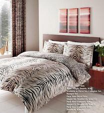 Tiger Skin Animal Theme Duvet Cover Quilt Cover Reversible Bedding Set All Sizes