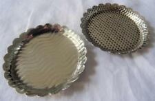 2x Antique Arts & Crafts Silver Plated Dressing Table Trinket or Ring Dish