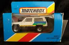 MATCHBOX MB 27 JEEP CHEROKEE WHITE & BLUE/GREEN/YELLOW - NEW in OPENED BOX