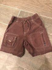Gymboree Little Boy Toddler 3T cargo khaki shorts EUC
