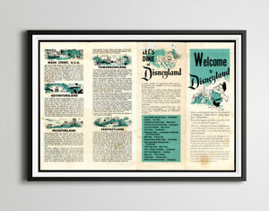 Vintage 1955 DISNEYLAND Park Brochure Poster! (up to 24 x 36) - Opening Year (2)