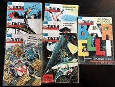 """LOT 6 """"TINTIN""""Hebdo 1964 n°800 à 806 < SPECIAL MUSIQUE BEATLES,FLIPPER,VAILLANT"""