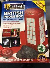 British Téléphone Boîte Lumière Solaire