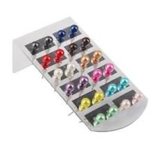 Gros lot 24pcs couleurs mixtes ronde Faux perle Piercing Boucles d'oreille