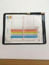 Golf scorecard holder with pencil