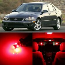 12 x Ultra Red Interior LED Lights Package For 2001- 2005 Lexus IS300
