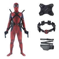 Deadpool Costume Mask Adult Kid Lycra Zentai Bodysuit Halloween Cosplay Suit