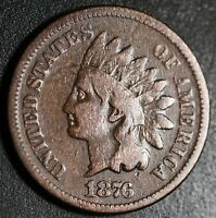 1876 INDIAN HEAD CENT - VG VERY GOOD