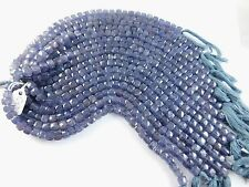 Natural Iolite Faceted Cube Beads Size 7-8mm Approx 9 inches Strand
