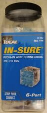 Pack of 100, 6 port Ideal 30-088J Push-In Wire Connector