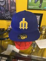 Seattle Mariners MLB New Era 7 3/4 Fitted Hat Throwback Cap 5950 59Fifty Nwt