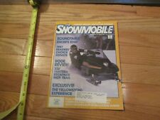 Snowmobile Magazine Dec 1986 Arctic Cat Polaris Ski Doo Yamaha