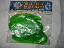 BUTCH HARRIS Vintage Fishing Lure in Sealed Package Green 8-1/2 inch Bass Worms