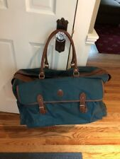 66f8445c9bfe Polo Ralph Lauren Large Green Canvas Duffle Bag Carry Suitcase 24 x 15 x 11  In