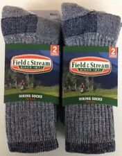 4 Pair Men's Size Large Field & Stream Merino Wool Navy Crew Sock *Made in USA*